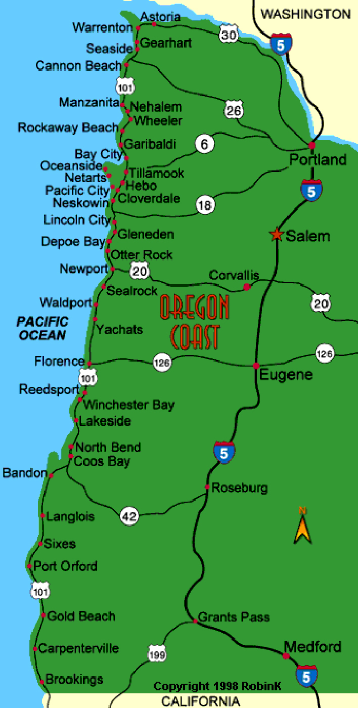 LOCAL PICTURES A Map Of Oregon Counties